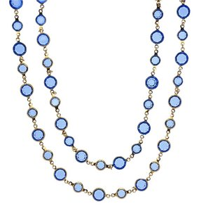 Chanel Vintage Chanel Blue Gripoix Sautoir Necklace