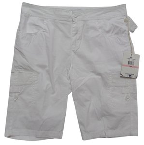 Caribbean Joe Nwt Bermuda Shorts White