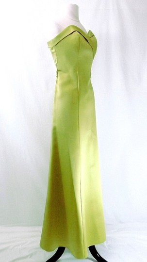 Alfred Angelo Pistachio Satin Style 6551 Formal Dress Size 8 (M)