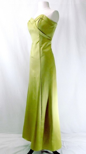 Alfred Angelo Pistachio Satin Style 6551 Formal Bridesmaid/Mob Dress Size 8 (M)