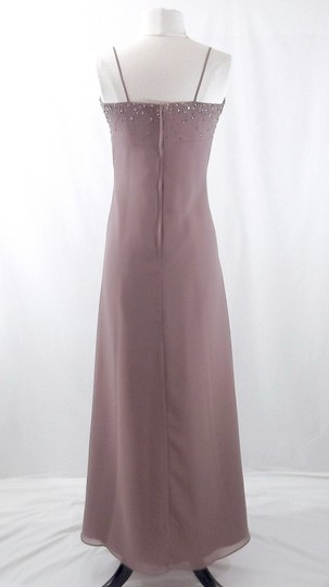 Alfred Angelo Raisin Chiffon Style 6825 Formal Bridesmaid/Mob Dress Size 8 (M)