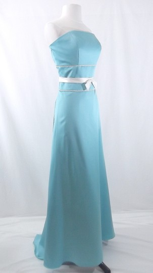 Alfred Angelo Pool / Ivory Satin Style 6552 Formal Bridesmaid/Mob Dress Size 10 (M) Image 4