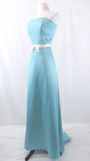 Alfred Angelo Pool / Ivory Satin Style 6552 Formal Bridesmaid/Mob Dress Size 10 (M) Image 6