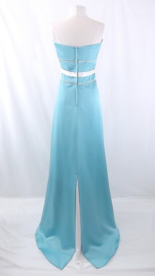Alfred Angelo Pool / Ivory Satin Style 6552 Formal Bridesmaid/Mob Dress Size 10 (M)