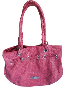 Elliott Lucca Leather Woven Hobo Bag
