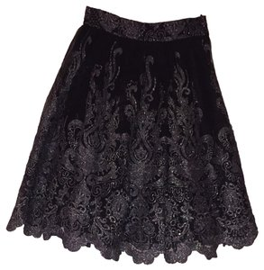 Chi Chi London Skirt Black And Metallic Silver
