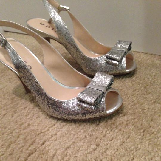 Unisa Silver Sparkle Pumps