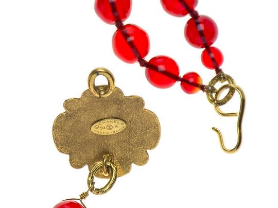 Chanel Chanel Vintage Red Gripoix Beaded Choker Necklace