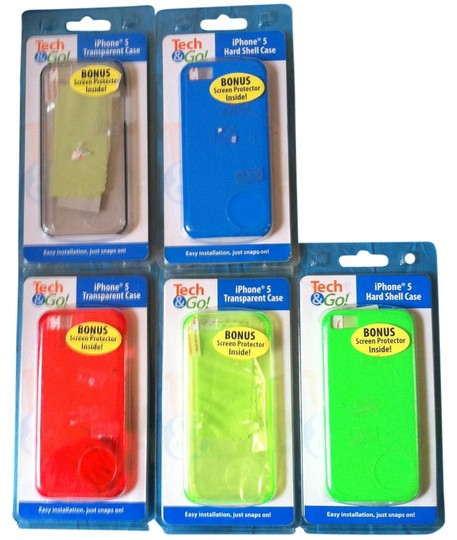 Other 5-Peice Lot I Phone 5/5S Cell Cases..Each includes-Screen Protector,Microfiber,Cleaning cloth,and applicator Retail for All$39.95