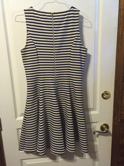 Daniel Cremieux short dress Navy Stripe Figure Flattering Bell Curve Back Zipper Sleeveless on Tradesy Image 1