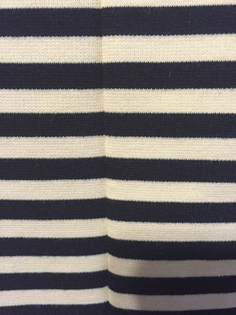 Daniel Cremieux short dress Navy Stripe Figure Flattering Bell Curve Back Zipper Sleeveless on Tradesy Image 3