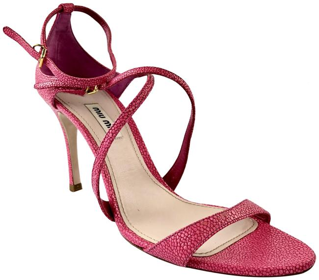 Item - Pink Razza Leather Ankle Strap Sandals Size EU 41 (Approx. US 11) Regular (M, B)