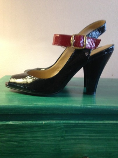 Cole Haan Black and Red Pumps