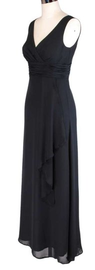 Black Black Draping Chiffon Size:lrg Dress Dress