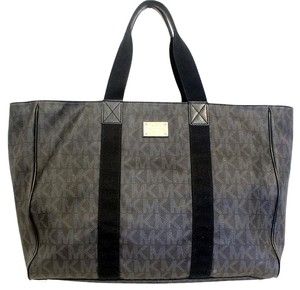 Michael Kors Travel Duffle Damier Monogram Tote in Grey