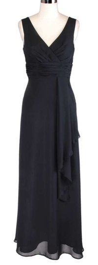 Black Chiffon Draping Size:small Modern Wedding Dress Size 4 (S)