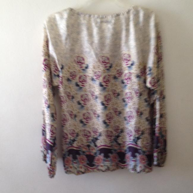 GERARD DAREL Top Ivory camouflaged print