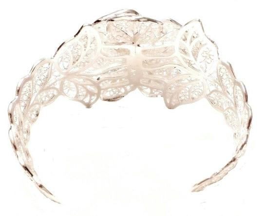 Other Gorgeous Filigree Sterling Silver Plated Rose Cuff Bracelet