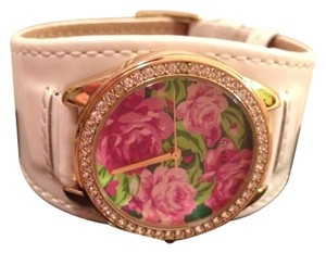 Guess By Marciano Gold And Flower Gold Watch
