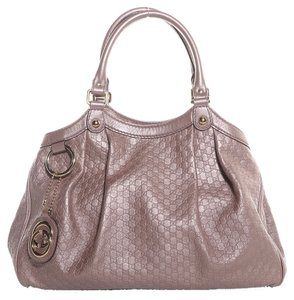 Gucci Satchel in Metallic Light Pink