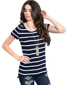 Striped Comfortable T Shirt