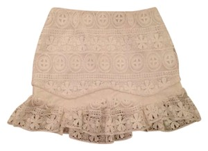 Pixie Market Lace Mini Skirt White
