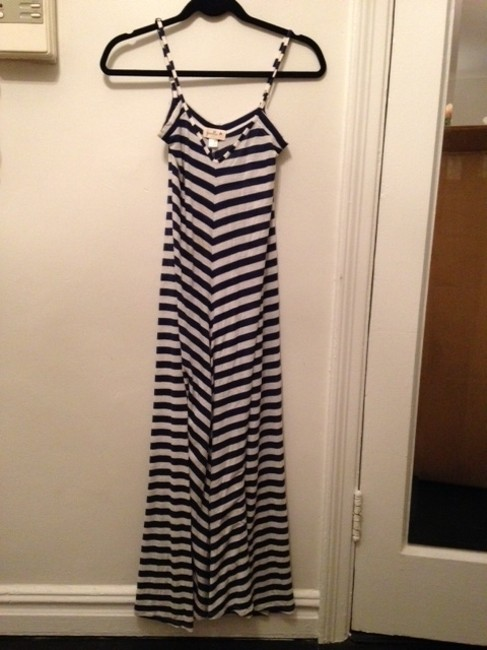 Navy Maxi Dress by Anthropologie Striped