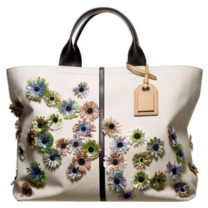 Reed Krakoff Spring Tote in Natural, Multi Color Floral