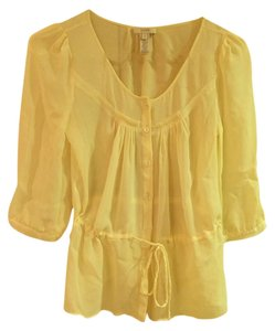 J.Crew Tie Sheer Silk Top Ecru