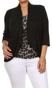 Other Plus-size Animal Print Cardigan Top