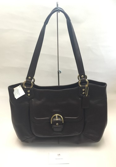 Coach Shoulder New Tote in Mahogany