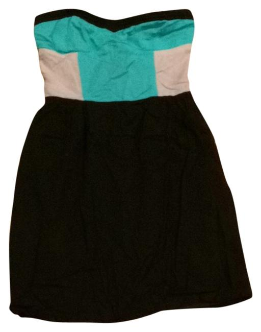 Sparkle & Fade short dress Turquoise, Grey, And Black on Tradesy