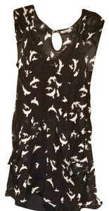 Kimchi Blue short dress Black With White Birds on Tradesy