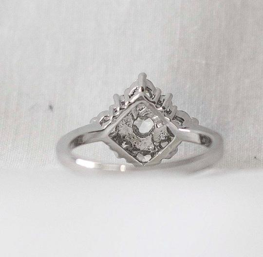 Other Sz 6 White Gold 18k Engagement Ring with White Sapphires