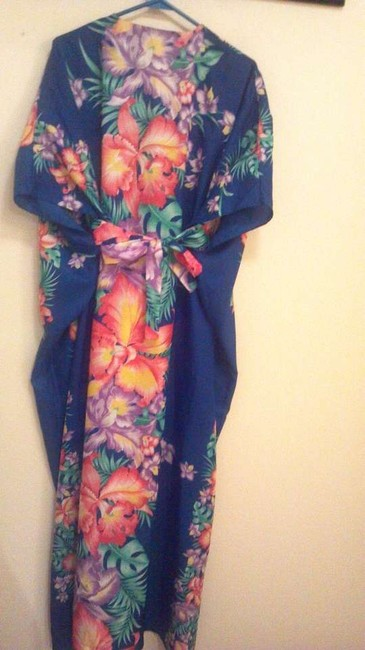Blue floral Maxi Dress by Tropical Eve