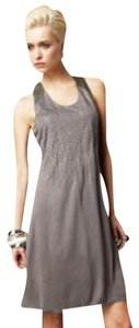 Doo.Ri short dress Grey Faux Leather Racerback Sequined A-line Shape Hi-lo Hem on Tradesy