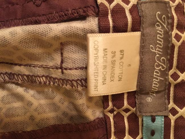 Tommy Bahama Side Zip High Waisted Capris brown pattern