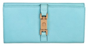 Gucci Gucci Light Blue Leather Bifold Wallet