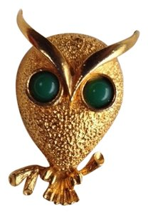 Other Golden Color Antique Owl Pin
