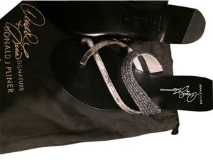 Donald J. Pliner SOLD Black & Silver Sandals