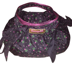 Betseyville by Betsey Johnson Tote in Black & Pink Floral