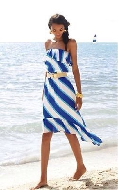 Blue Gold White Maxi Dress by Lilly Pulitzer Image 2