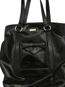 Emporio Armani Bow Patent Leather Tote in Black