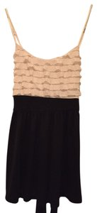 Forever 21 Ruffles Summer Top Beige and black