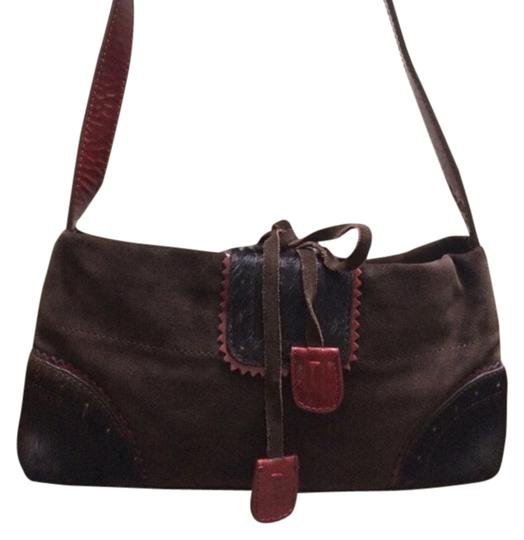 Preload https://item5.tradesy.com/images/adrienne-vittadini-deep-red-and-brown-patent-leather-horse-hair-suede-baguette-3721309-0-0.jpg?width=440&height=440