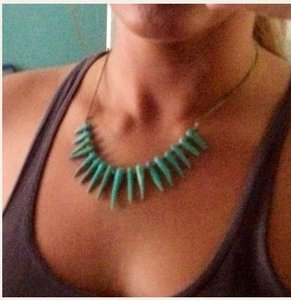 Lucky Brand Turquoise Magnesite Spike Necklace
