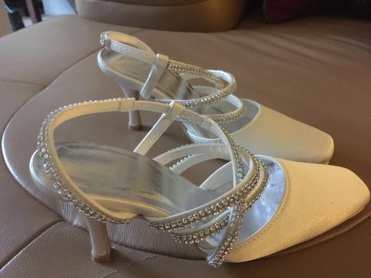 Party shoes Off White Silver Tone Sandals