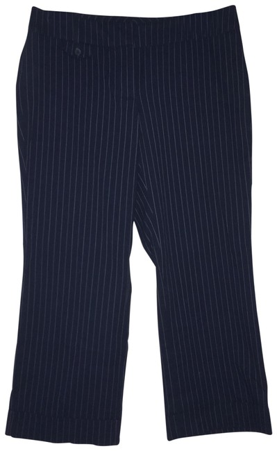 Item - Navy Blue with White Pinstripes Pants Capris Size 2 (XS, 26)