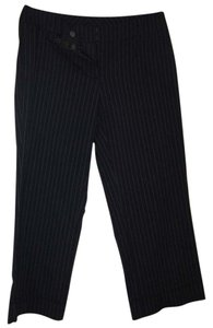 New York & Company Capris Navy blue with white pinstripes