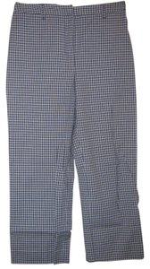 Ann Taylor LOFT Blue/White Capris Blue/white checkered